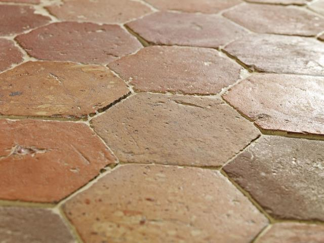 ANTIQUE FRENCH TERRACOTTA TILES,