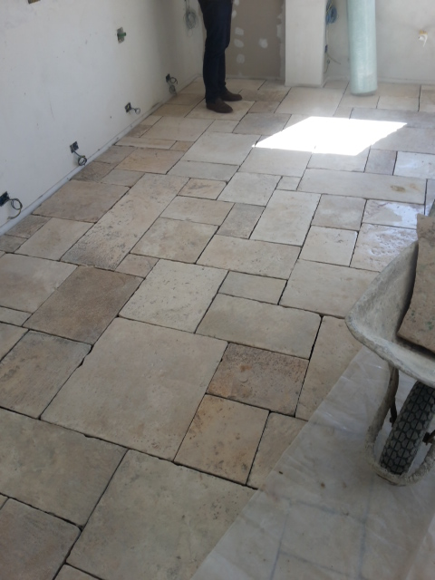 Reclaimed French Stone Flooring