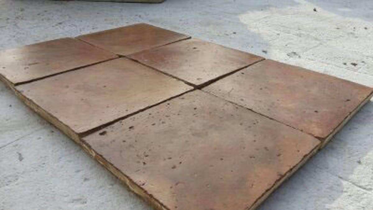 Antique Reclaimed terra cotta tiled floor