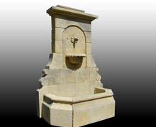 Antique Fountain in Burgundy Limestone