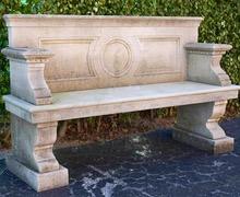 Antique Bench in  Burgundy limestone