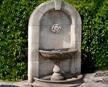 Antique Fountaine in Burgundy Limestone