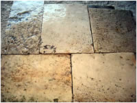 ANCIENT FLOORING AGE (1700)WITH CUT THICKNESS TO CM.3 OF PIERRE DE BOURGOGNE RECOVERY OLDSTONE .IN WAREHOUSE GREAT METERS SQUARES AVAILABLE.(STOCK OF 1000 M2).MATERIAUX<br>  ANCIENS IN STONE OF BOURGOGNE,RECLAIMED ANTIQUE LIMESTONE<br> 2015 DISCOUNT 10% ( PRICE $ 35 ).