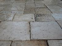 ANTIQUE RECLAIMED EXQUISITE SURFACES ANCIENNE IN LIMESTONE OF BOURGOGNE FLOORS FLOORING FLOOR PAVEMENT PLANCHER PAVE TILE FLAGSTONES THICKNESS 3 CM. AGE 1700 ORIGINATE THEM,GREAT STOCKS IN WAREHOUSE FOR EXPORT(USA)STOCKS FOR SALE).