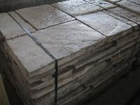 FLOORING OF RECOVERY IN OLD STONE OF BOURGOGNE CUT TO 5 CM.AGE 1700 ORIGINATE THEM,AVAILABLE IN WAREHOUSE 500 M2 IN STOCK.MATERIAUX ANCIENS OF RECOVERY