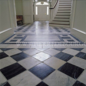 CARRARA FLOORING BALCK & WHITE
